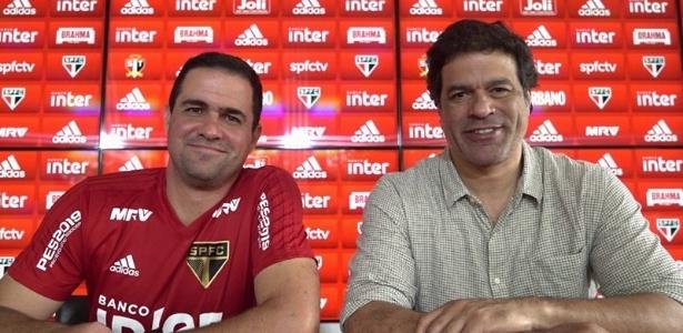 O treinador André Jardine e o executivo de futebol, Raí, vão trabalhar para buscar reforços