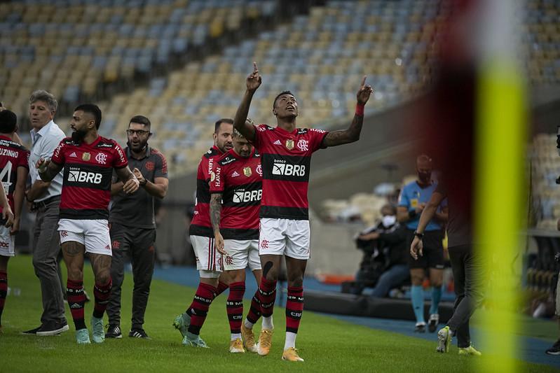 O atacante marcou três gols diante do São Paulo. Foto: Flickr/Flamengo