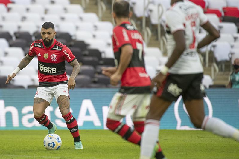 Mengão vem de goleada sobre o São Paulo pelo Brasileiro. Foto: Alexandre Vidal/Flamengo
