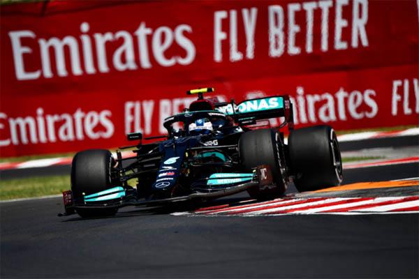 Finlandês foi o mais rápido no TL2 para o GP da Hungria. Foto: Mercedes-AMG Petronas F1 Team