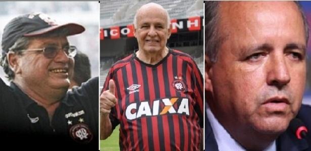 Geninho, Pepe e Vadão ganharam títulos importantes para a história do Atlético-PR. Foto: Reprodução