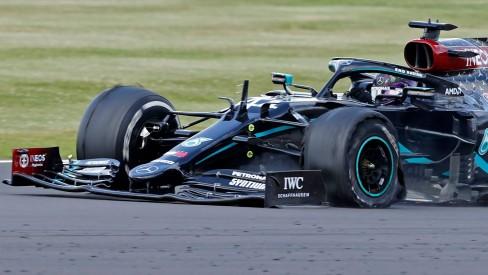Inglês preciso ser habilidoso na última volta da prova em Silverstone. Foto: Reprodução