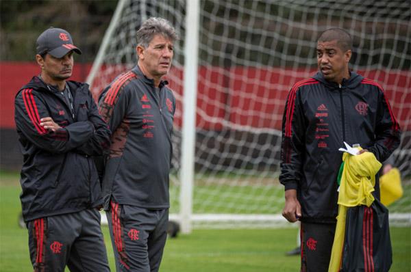 Treinador vai trabalhar com seus titulares visando confronto pelo Brasileiro. Foto: Alexandre Vidal/Flamengo