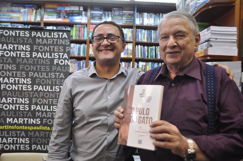 Os jornalistas Claudio Junqueira e José Paulo de Andrade. Foto: Marcos Júnior Micheletti/Portal TT