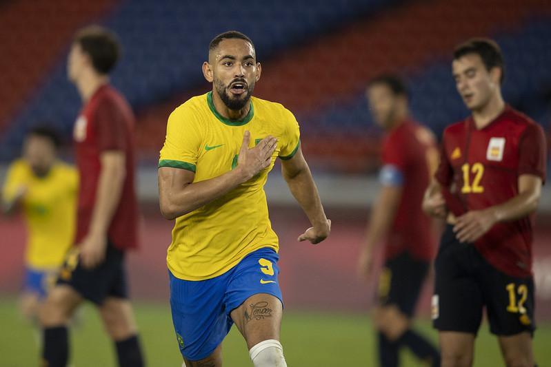 Matheus Cunha foi um dos destaques da seleção sub-24 em Tóquio. Foto: Lucas Figueiredo/CBF