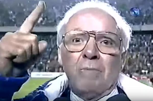 Conquista na Copa América de 1997 emocionou o treinador. Foto: Reprodução