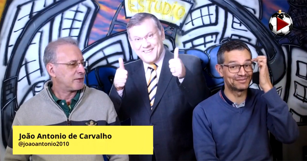 João Antonio e Frank Fortes em momento inusitado na Live. Assista e confira. Foto: Reprodução
