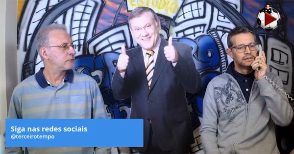 João Antonio e Frank Fortes atendem ligação de telemarketing no programa. Foto: Reprodução
