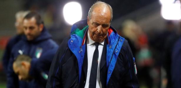 Gian Piero Ventura não resistiu no cargo depois de não conseguir levar a Azzurra ao Mundial de 2018. Foto: Kai Pfaffenbach/Reuters - retirada do UOL