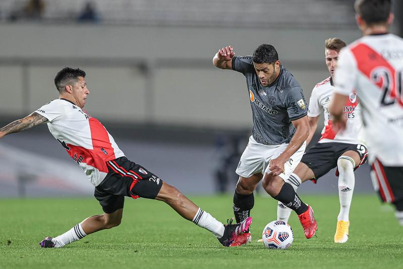 Galo venceu a partida de ida por 1 a 0 e tem a vantagem do empate no Mineirão. Foto: Pedro Souza/Atlético