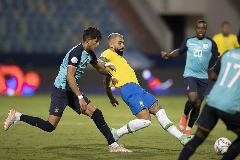 Gabigol é um dos jogadores do atual plantel rubro-negro que em algum momento integrou a seleção. Foto: Lucas Figueiredo/CBF