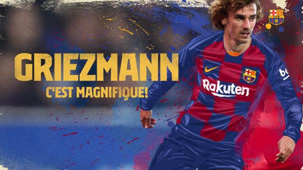 Barcelona oficializou a contratação de Griezmann na sexta-feira (12). Foto: Reprodução/Site Barcelona/Via UOL