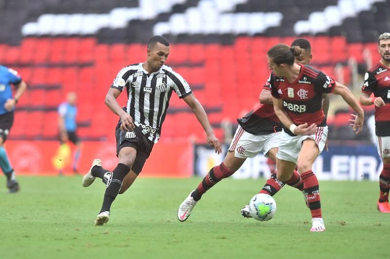 Peixe é o 11º colocado no Brasileiro, enquanto o Mengão é o 5º. Foto/Ivan Storti/Santos FC
