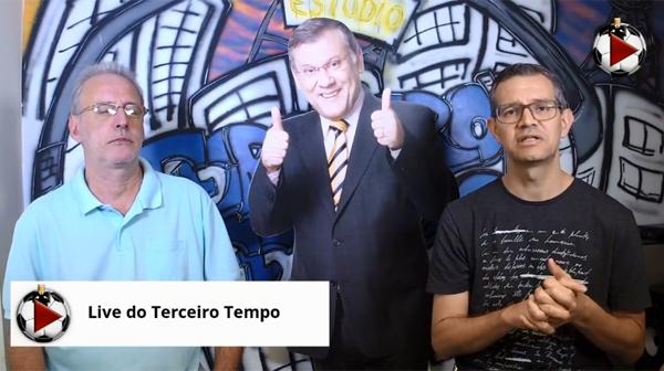 João Antonio e Frank Fortes na Live do Terceiro Tempo. Foto: Reprodução