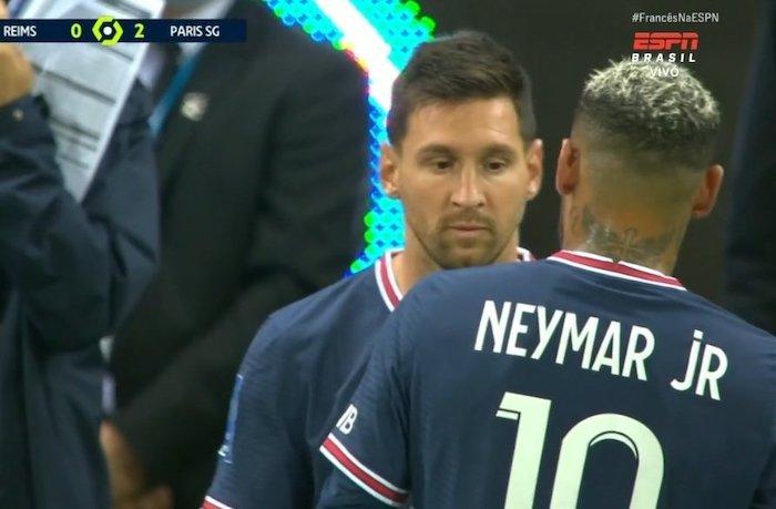 Messi entrou na partida no lugar de Neymar. Foto: Reprodução/ESPN