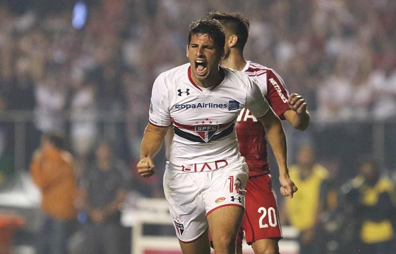 Centroavante argentino assinou contrato até o fim de 2022 com o Tricolor. Foto: Rubens Chiri/saopaulofc.net