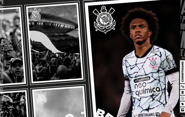 Willian, a mais recente aquisição do clube do Parque São Jorge. Foto: Reprodução/Twitter
