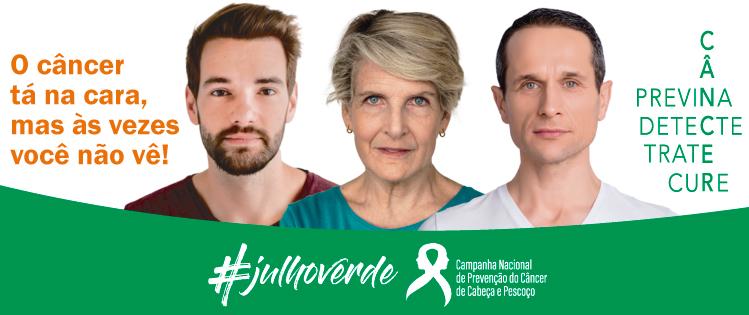 Trata-se de uma campanha que visa informar sobre o câncer de cabeça e pescoço