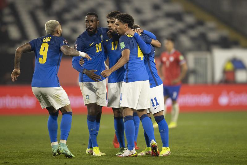 Seleção brasileira lidera as eliminatórias com 21 pontos e 100% de aproveitamento. Foto: Lucas Figueiredo/CBF
