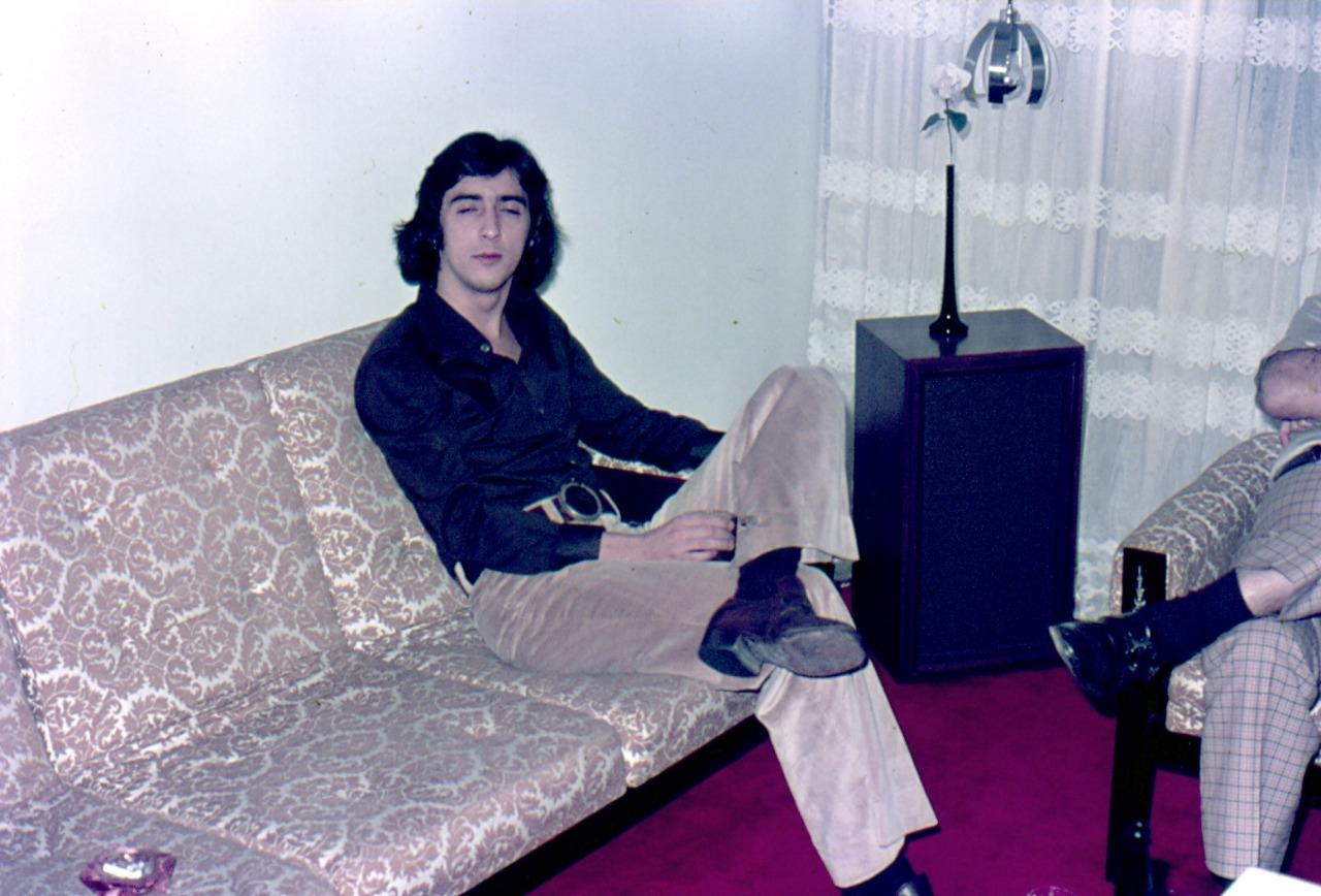 Imagens raras também de outras personalidades no início dos anos 70