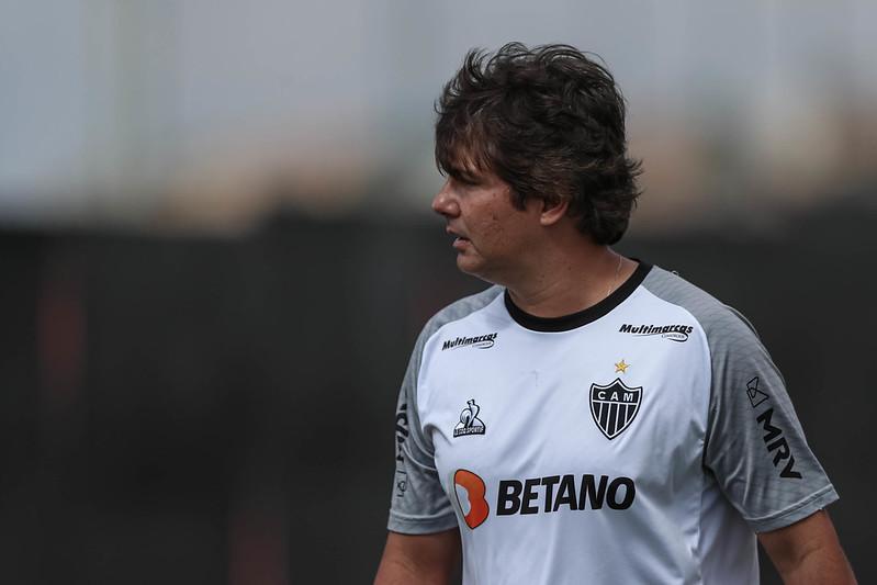 Cristiano Nunes durante treino na Cidade do Galo. Foto: Fotos: Pedro Souza/Clube Atlético Mineiro