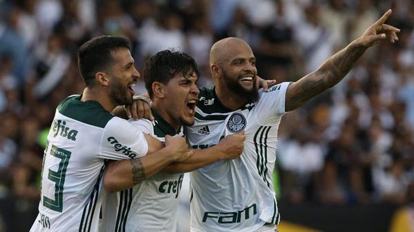 Luan e Gustavo Gómez tentam ampliar sequência sem sofrer gols. Foto: Cesar Greco/Ag. Palmeiras/Divulgação/Via UOL