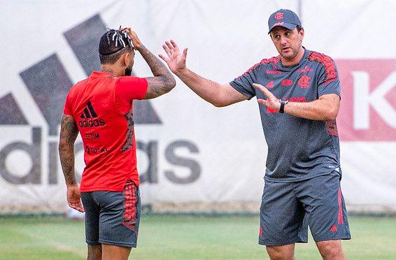 Ex-treinador do Flamengo tem ideias que casam com a filosofia de jogo do Peixe. Foto: Alexandre Vidal/Flamengo