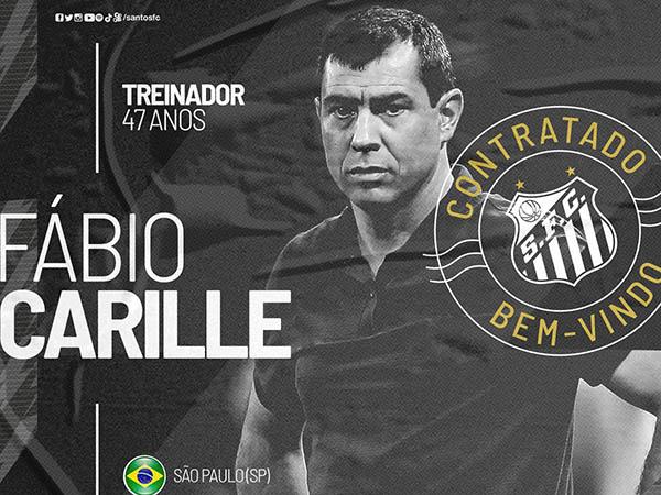 Treinador que estava livre no mercado assinou contrato até dezembro de 2022 com o Peixe. Foto: Divulgação