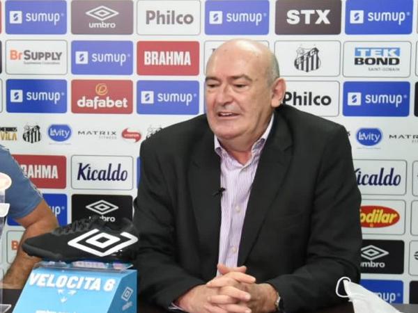 Presidente do Santos ainda negou que tenha ocorrido erro médico no tratamento da lesão do jogador. Foto: Ivan Storti/Santos FC