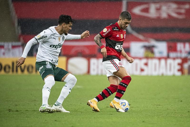 Rivais se enfrentam tentando colar no líder Atlético. Foto: Alexandre Vidal/Flamengo