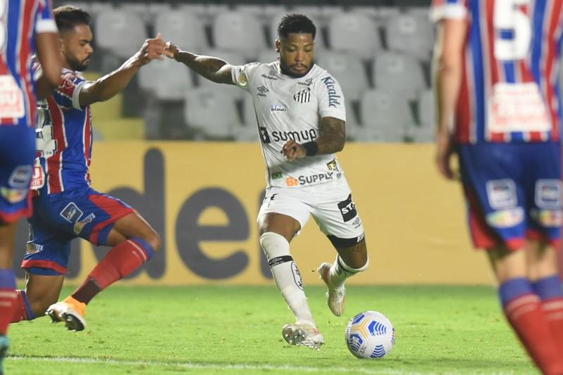 Peixe aumentou de 9% para 30% as probabilidades de queda após empate com o Bahia. Foto: Ivan Storti/Santos FC