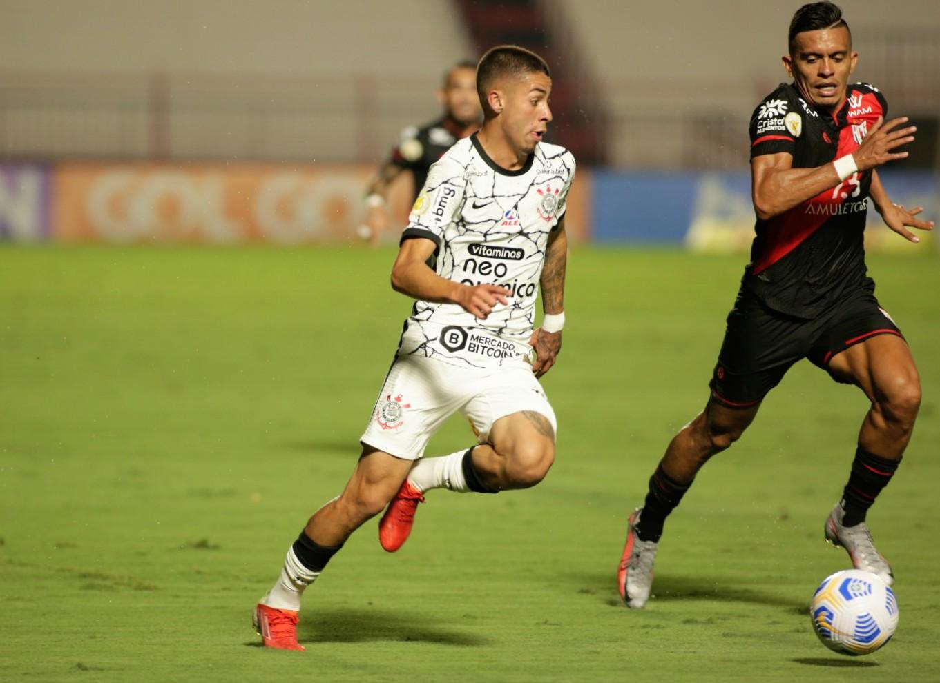 Timão ficou no empate com o Atlético-GO. Foto: Rodrigo Coca/Ag. Corinthians