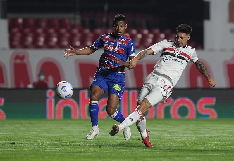 Tricolor empatou o jogo de ida em 2 a 2 com o Leão do Pici. Foto: Rubens Chiri/saopaulofc.net