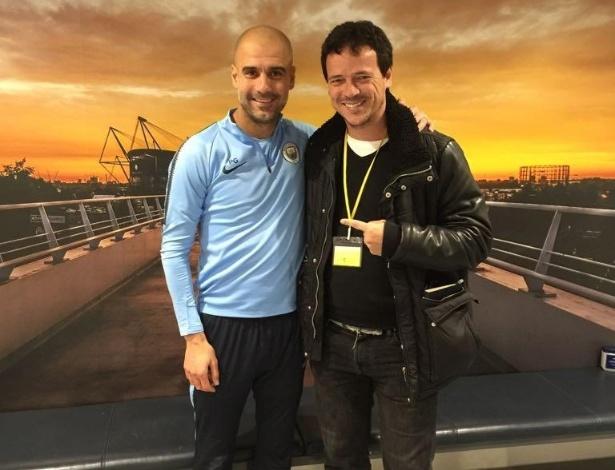 Diniz visitou Guardiola em viagem para aprimoramento profissional. Foto: Assessoria de Imprensa