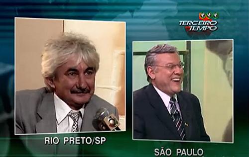 Falando de Rio Preto, o convidado roubou a cena na atração, então na Record. Foto: Reprodução