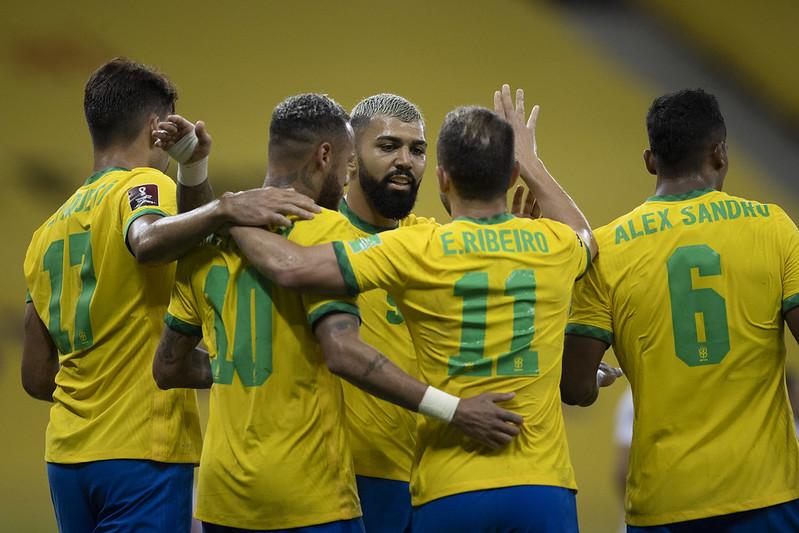 Seleção brasileira encara Venezuela, Colômbia e Uruguai. Foto: Lucas Figueiredo/CBF