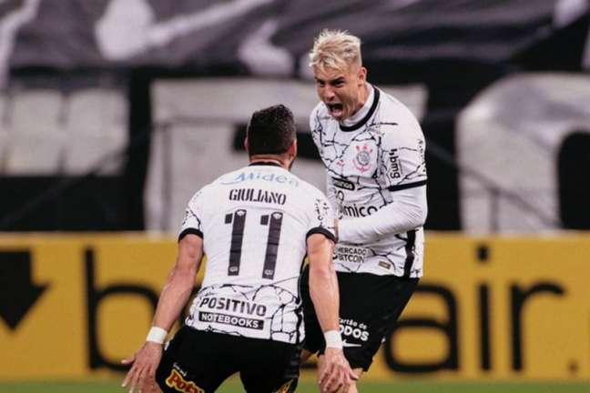 Camisa 123 do Timão já anotou três gols em quatro jogos pelo Timão. Foto: Rodrigo Coca/Ag Corinthians