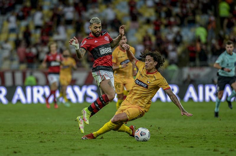 Mengão pode até perder por um gol de diferença que levará a vaga na final. Foto: Marcelo Cortes/Flamengo