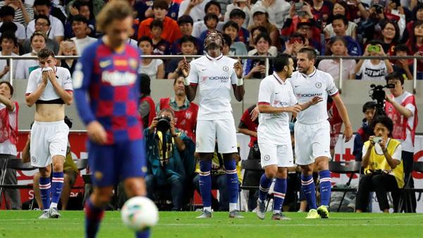 Chelsea comemora gol de Abraham contra o Barcelona. Foto: Kim Kyung-Hoon/Reuters/Via UOL
