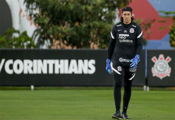 Cássio durante treino no CT Dr. Joaquim Grava. Foto: Rodrigo Coca/Ag. Corinthians