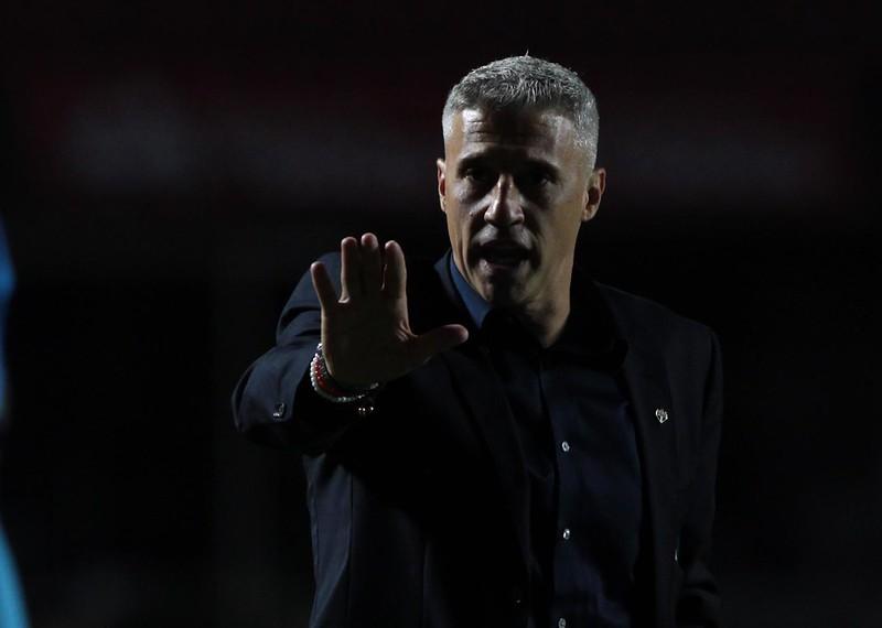 Hernán Crespo tem sido pressionado e sua demissão é especulada no São Paulo. Foto: Rubens Chiri/saopaulofc.net