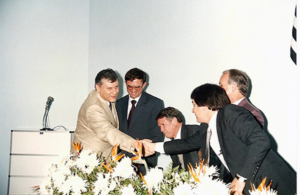 Em 1993, na Câmara Municipal de Porto Feliz. Foto: Divulgação