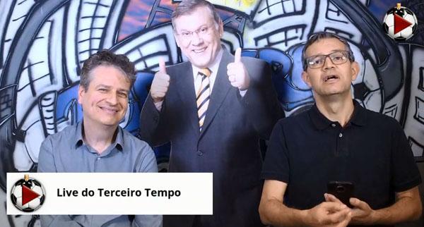 Marcos Júnior Micheletti e Frank Fortes discutiram a fase do Verdão. Foto: Reprodução