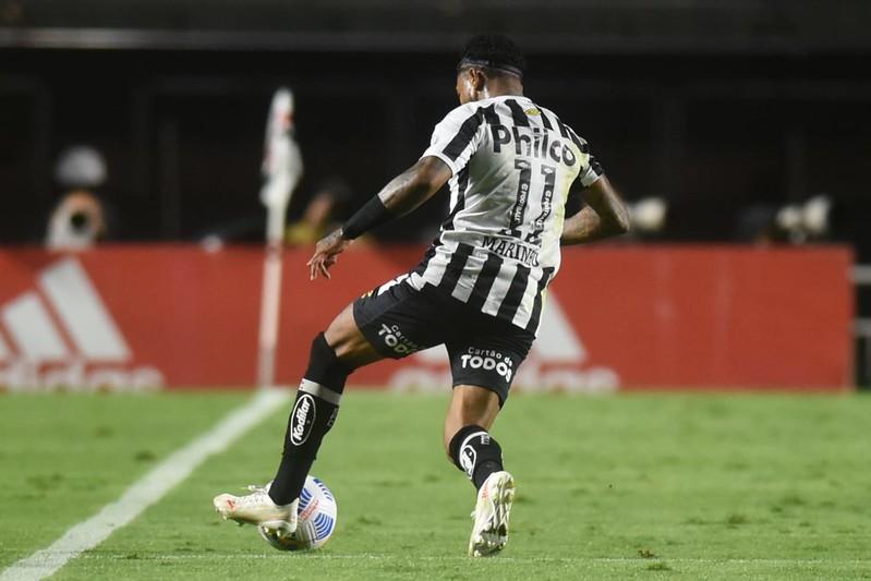 Jogadores do ataque santista balançaram as redes pela última vez em julho, contra a Juazeirense. Foto: Ivan Storti/Santos FC