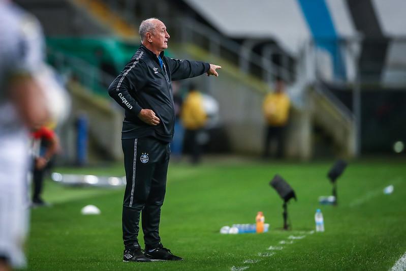 Técnico gaúcho deixou o Imortal após derrota para o Santos. Foto: Lucas Uebel/Grêmio FBPA