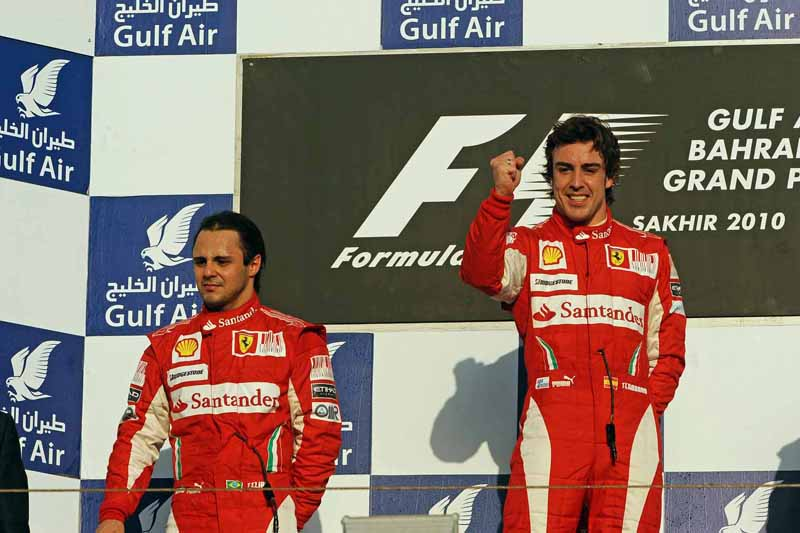 Então na Ferrari, brasileiro foi o segundo na abertura da temporada de 2010. Foto: Divulgação