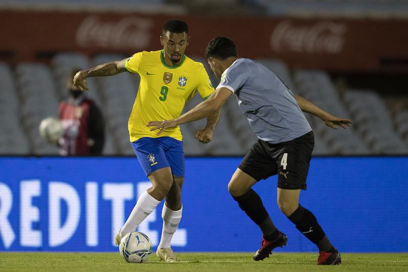 Seleção brasileira é a líder das eliminatórias; os uruguaios ocupam a quarta posição. Foto: Lucas Figueiredo/CBF