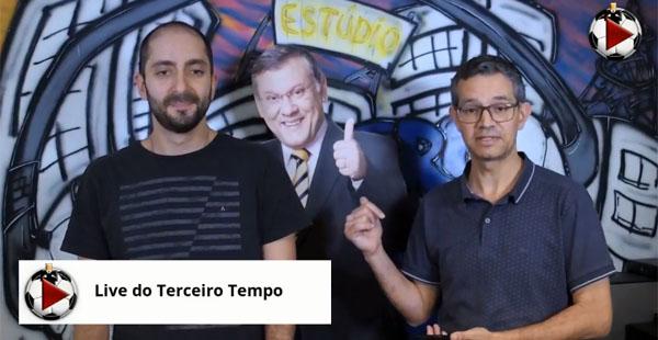 Thiago Tufano Silva e Frank Fortes, na Live da sexta-feira do Terceiro Tempo. Foto: Reprodução