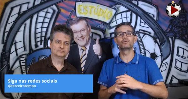 Marcos Micheletti e Frank Fortes debatem a liderança do Peixe. Foto: Reprodução