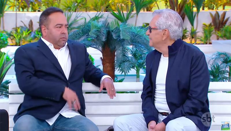 Humorista participou do programa do SBT com Carlos Alberto de Nóbrega. Foto: Reprodução
